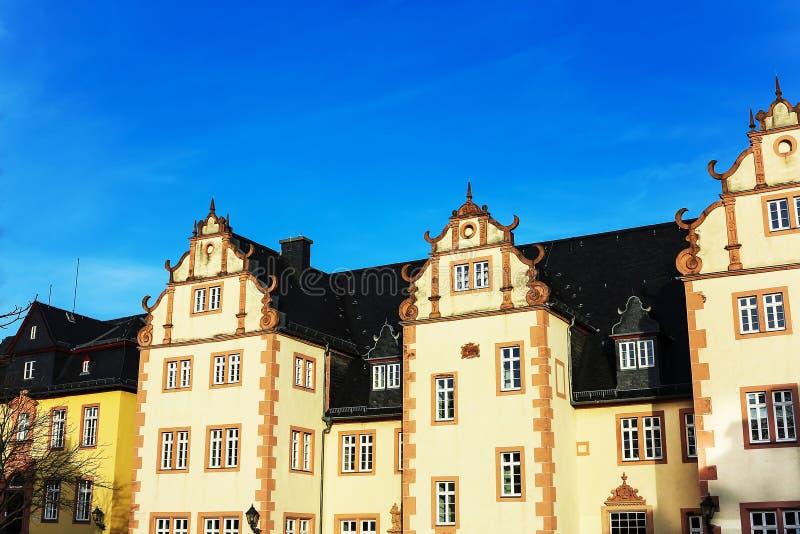 弗里德贝格城堡,在巴德瑙海姆和法兰克福附近,黑森,德国 免版税库存图片