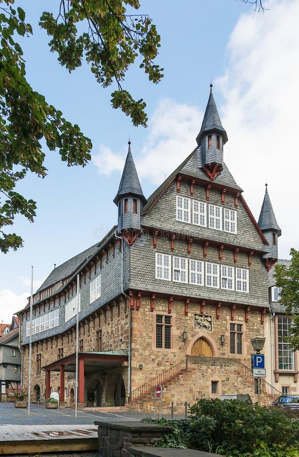 弗里茨拉尔城镇厅,德国 免版税图库摄影
