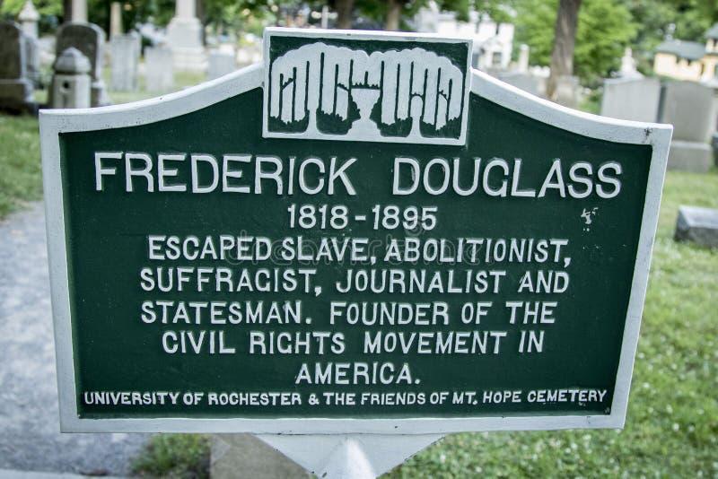 弗雷德里克・道格拉斯在Mt的`坟墓 希望公墓 免版税库存照片