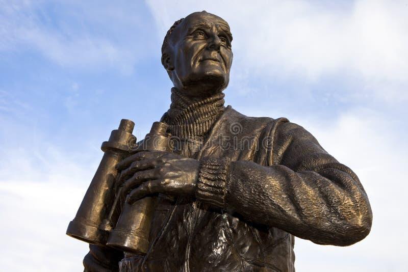 弗雷德里克约翰码头头的Walker Statue上尉在Liverpoo 免版税图库摄影