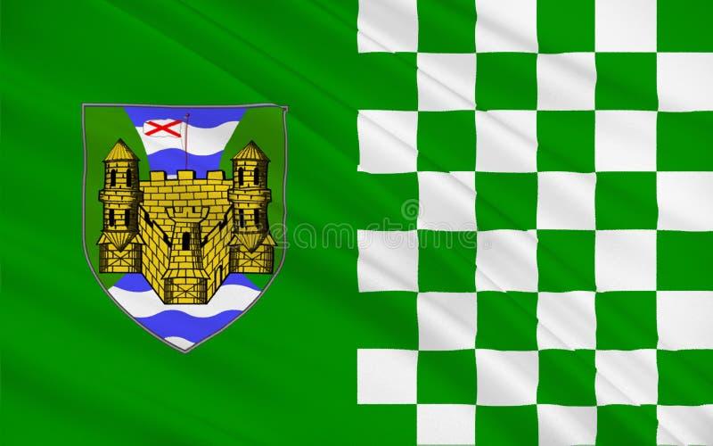 弗马纳郡旗子在北爱尔兰 免版税库存图片