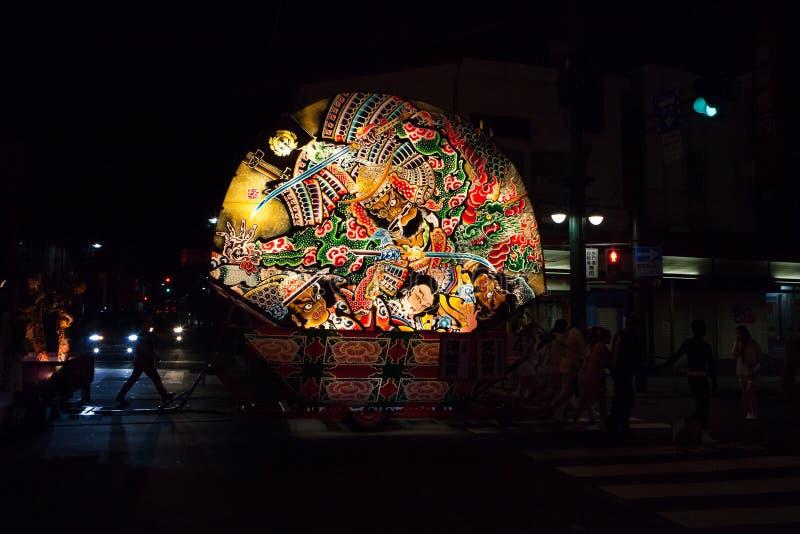弘前Neputa (扇形浮游物)节日在日本 图库摄影