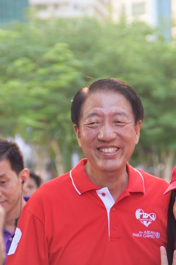 张志贤先生第8场东南亚国家联盟巴拉比赛2015年 免版税库存图片