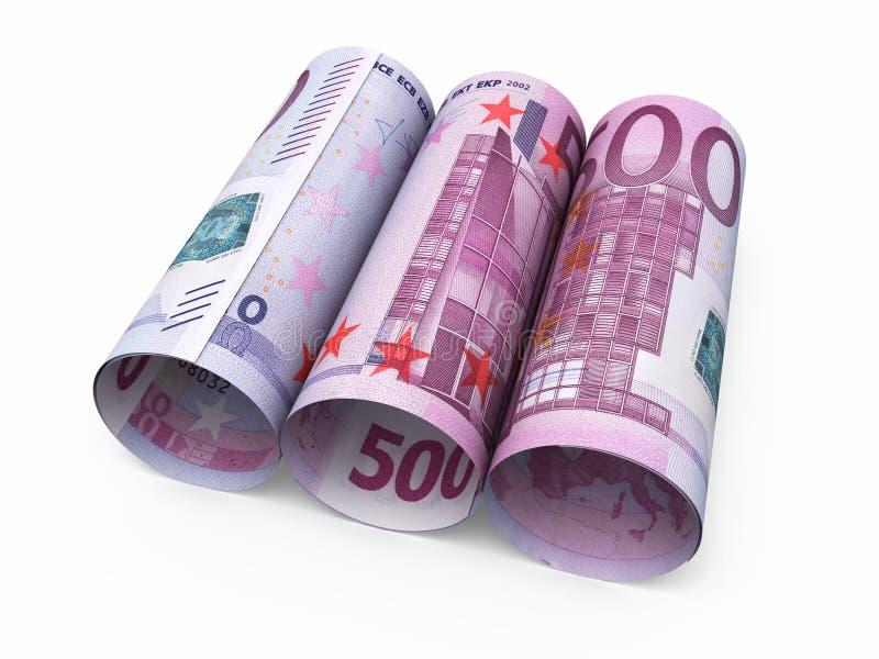 500张欧洲卷钞票 库存例证