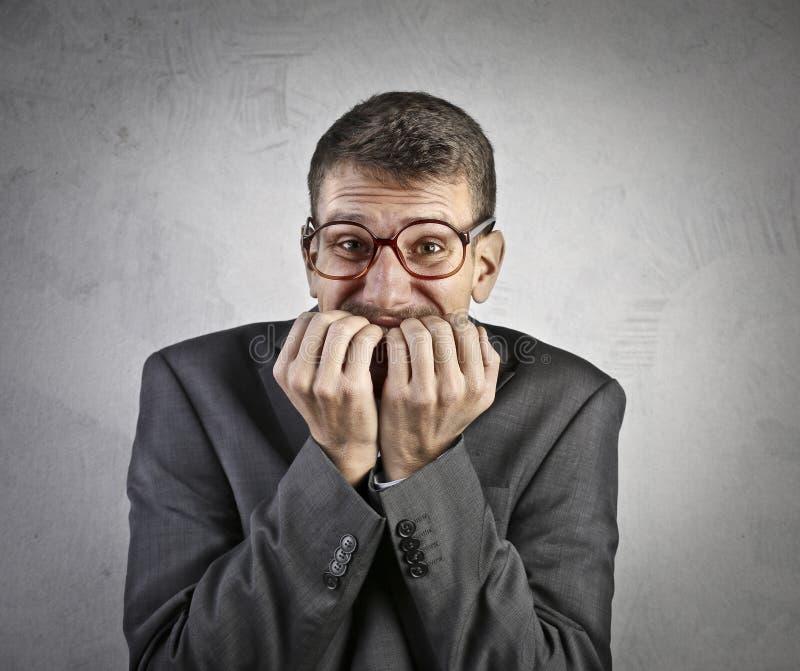 紧张的生意人 免版税库存图片