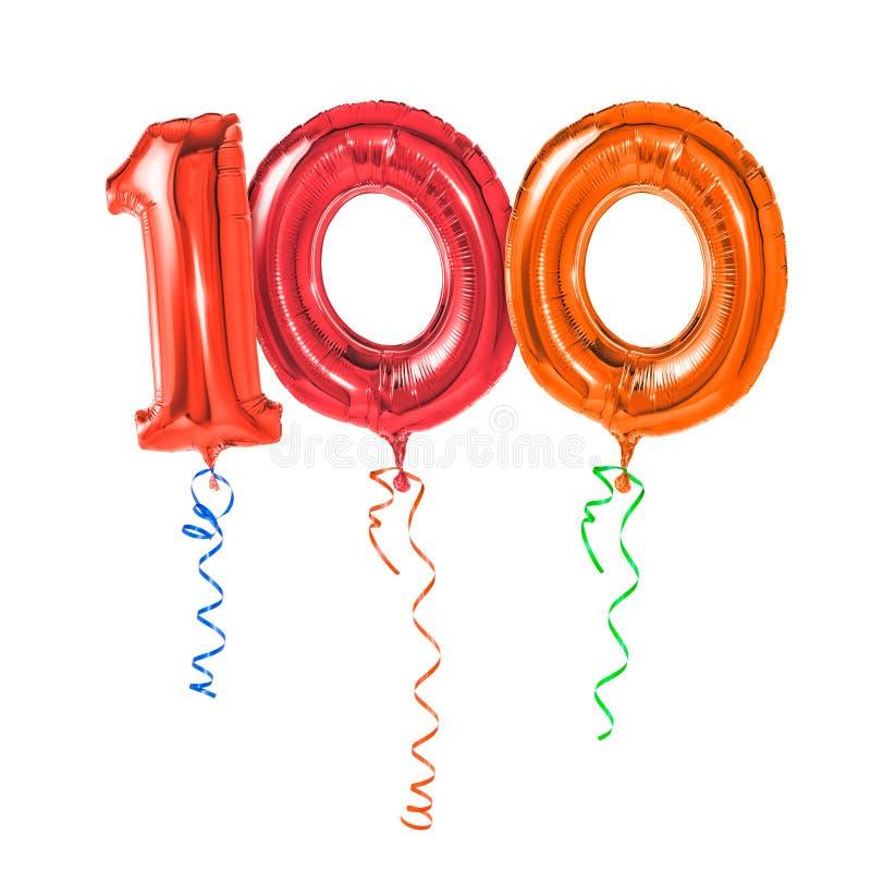 100张钞票片段编号 免版税库存照片