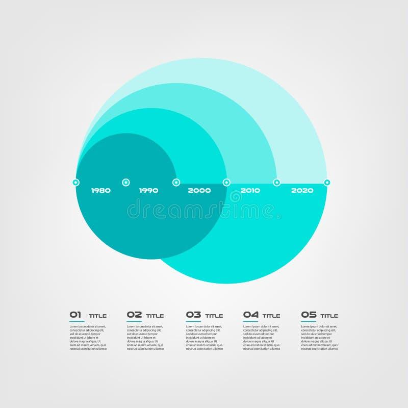 弧图步infographics -能说明战略,工作流或队工作,导航平的颜色,企业模板 皇族释放例证