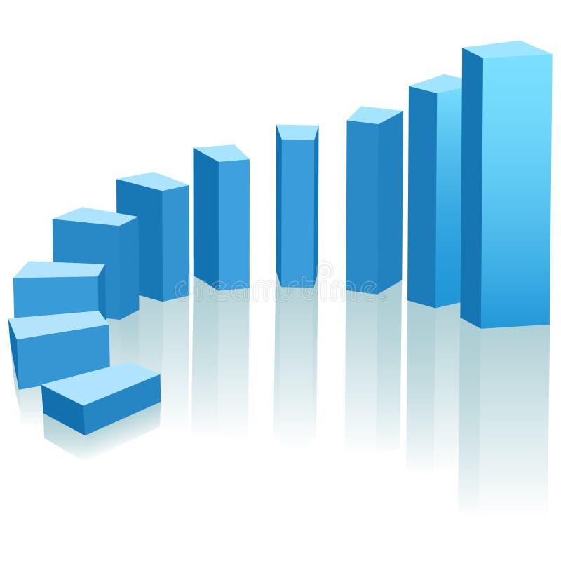 弧图表向上增长进展 向量例证