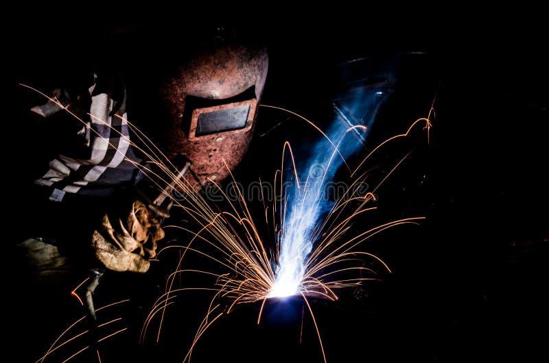 弧焊工 图库摄影