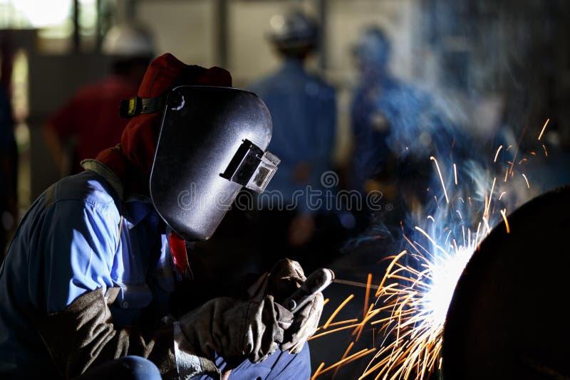 弧金属被保护的焊接 库存照片