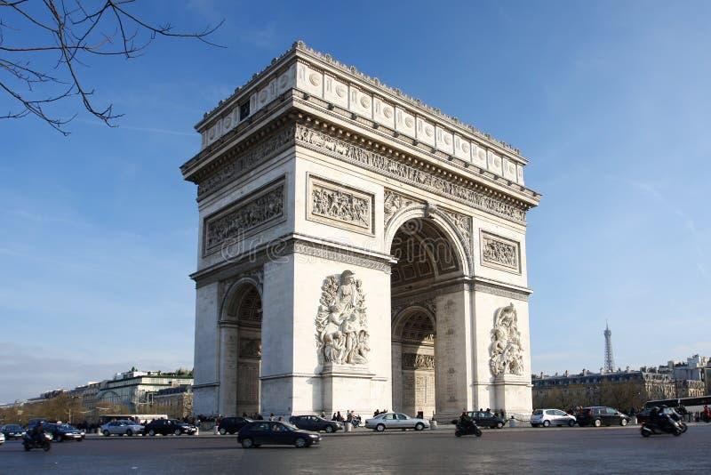 弧de巴黎春天胜利 免版税图库摄影