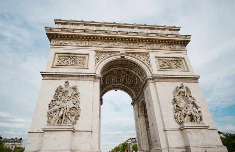 弧de巴黎胜利 库存照片