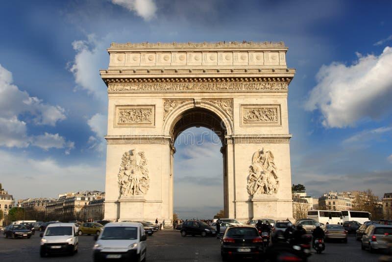 弧de法国巴黎胜利 免版税库存图片
