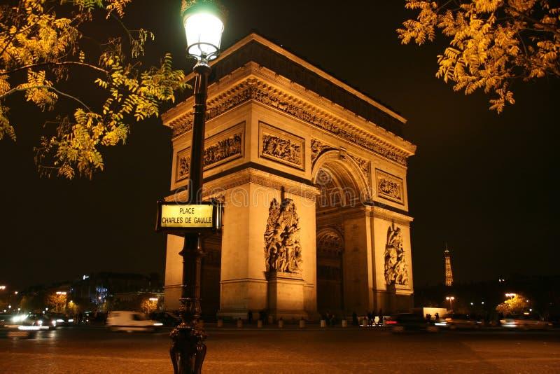 弧de法国巴黎triomphe 免版税图库摄影