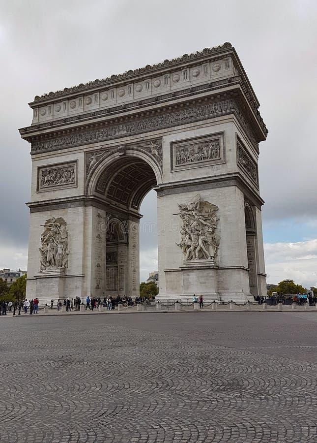 弧De Triomph,巴黎,法国 免版税图库摄影