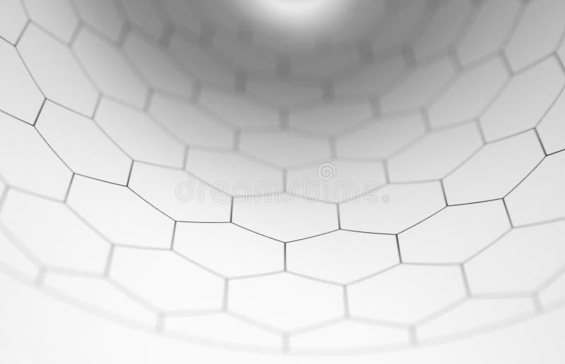 弯曲图形六角形在内 皇族释放例证