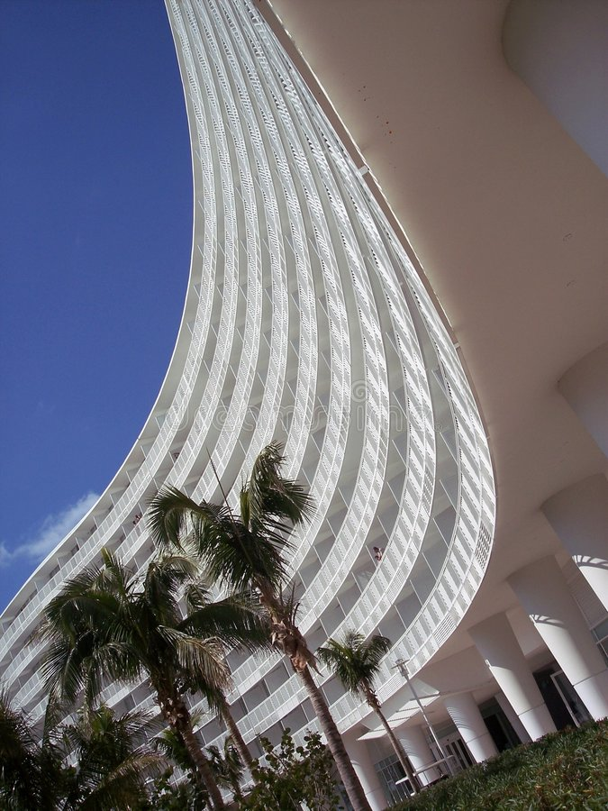 弯曲的旅馆 库存照片