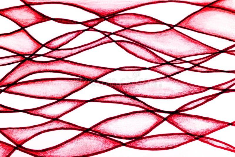 弯曲的线描 库存例证