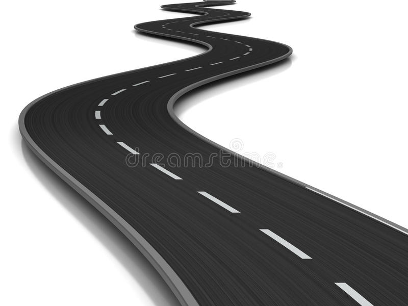 弯曲的路 向量例证