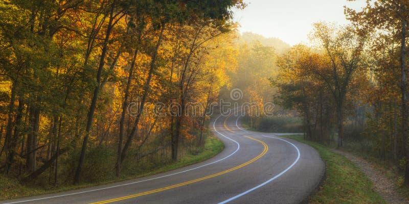弯曲的路 免版税库存图片