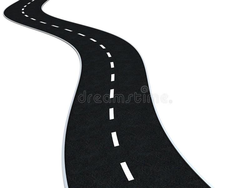 弯曲的路 皇族释放例证