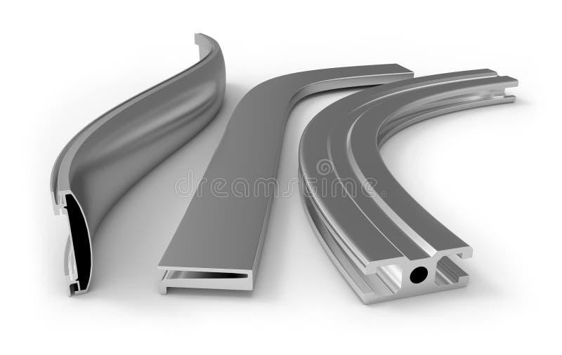 弯曲的铝外形 向量例证