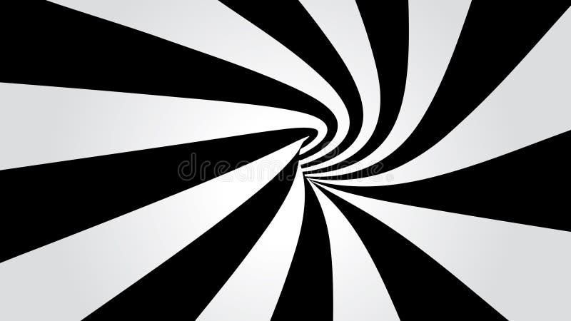 弯曲的隧道 向量例证