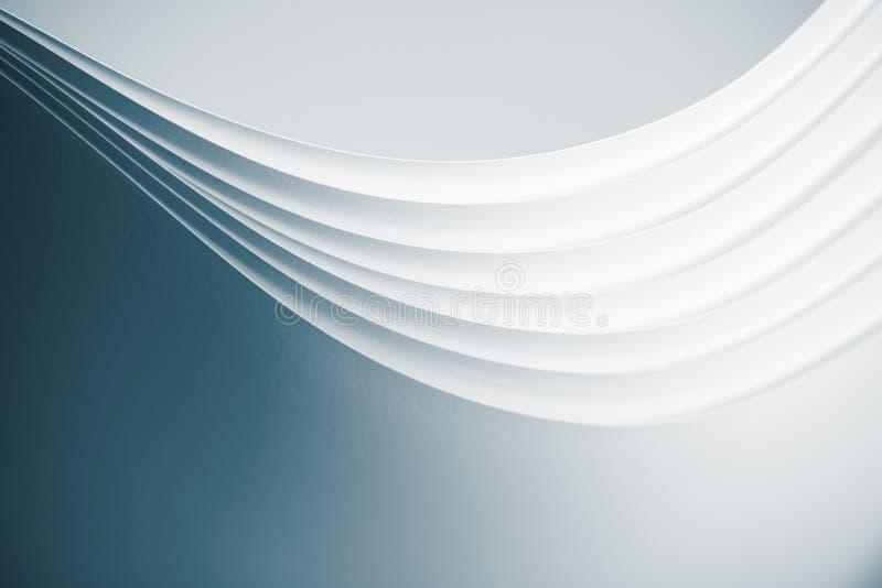 弯曲的origami pap模式页 免版税库存图片