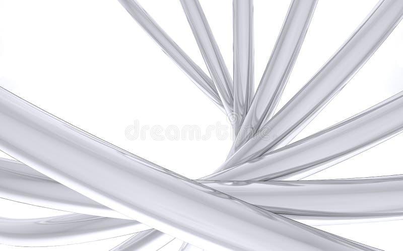弯的镀铬物管子 库存图片