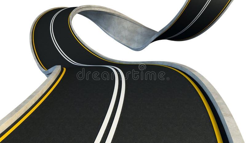弯的高速公路 库存例证