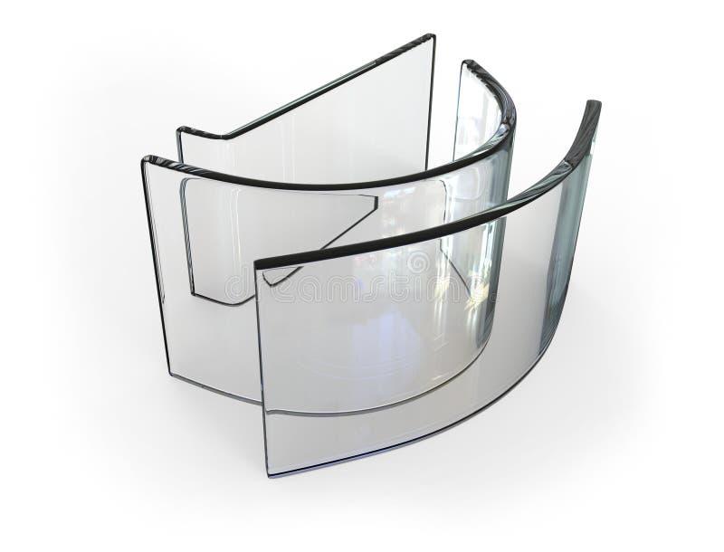 弯的玻璃 向量例证