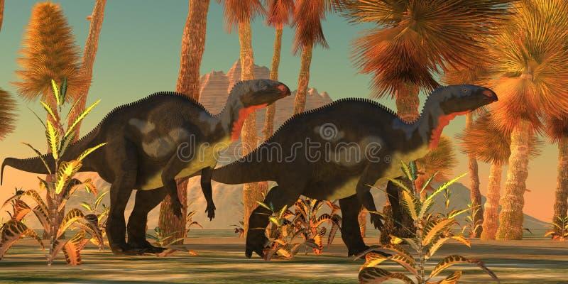 弯龙恐龙 库存例证