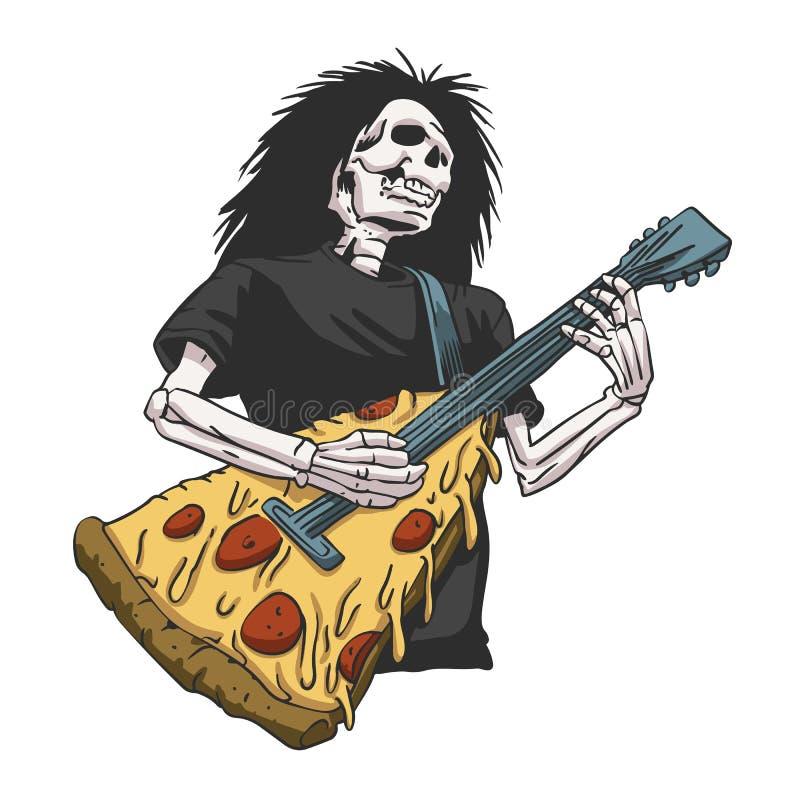 弹吉他的骨骼 免版税库存照片
