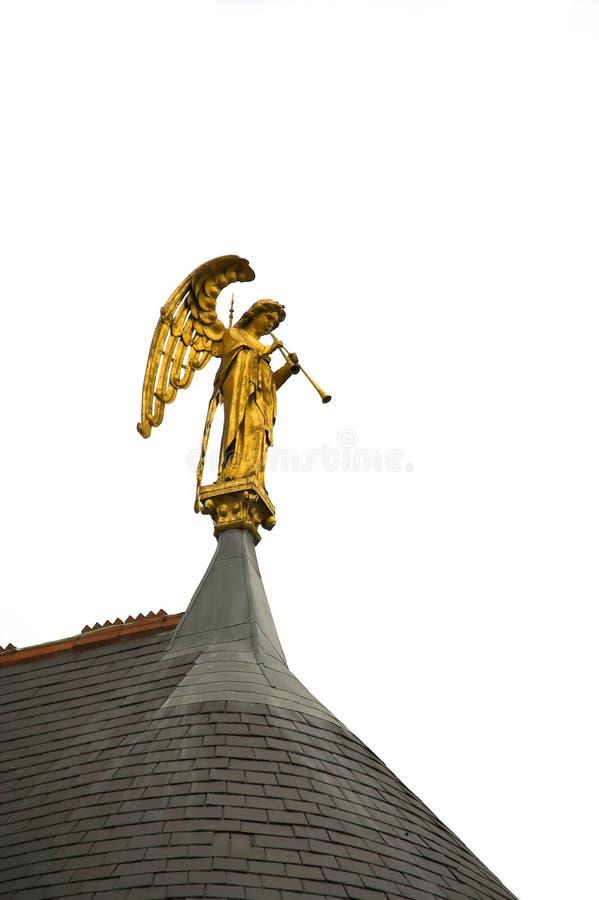 弹喇叭的天使 库存照片