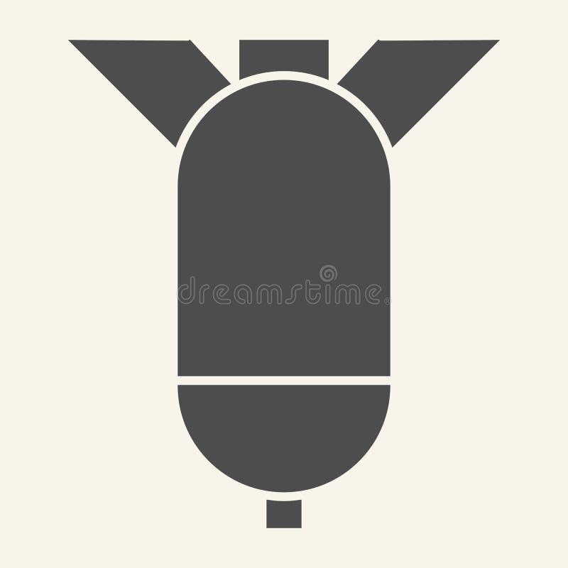 弹头坚实象 火箭队在白色隔绝的传染媒介例证 导弹纵的沟纹样式设计,设计为网和应用程序 皇族释放例证
