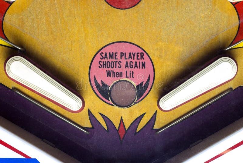 弹子球桌的鸭脚板 库存图片