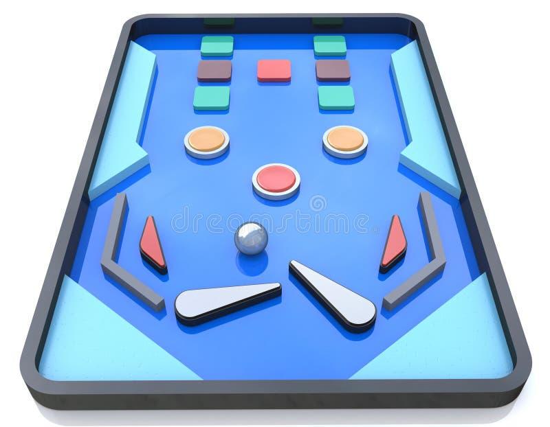 弹子球Playfield,弹子球比赛,弹子球桌 皇族释放例证