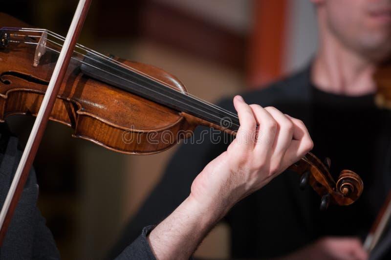 弹小提琴 图库摄影