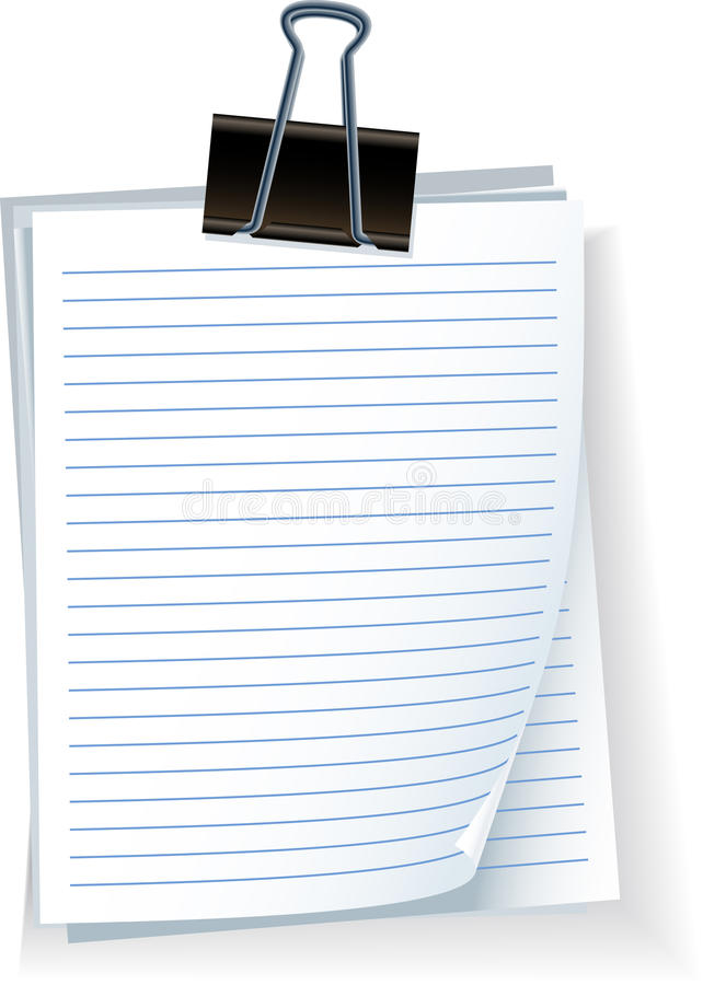 弹簧夹便条纸 向量例证