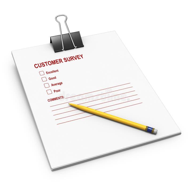 弹簧夹消费者票据笔调查 向量例证
