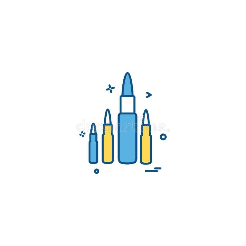 弹药子弹军事圆的射击象传染媒介设计 库存例证