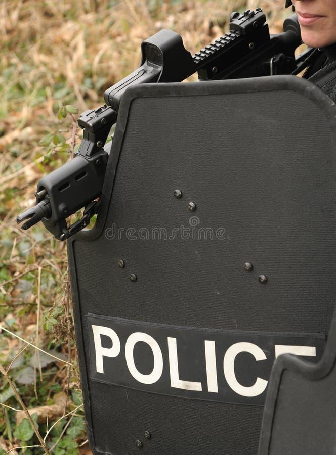 弹道女性盾拍打 免版税图库摄影