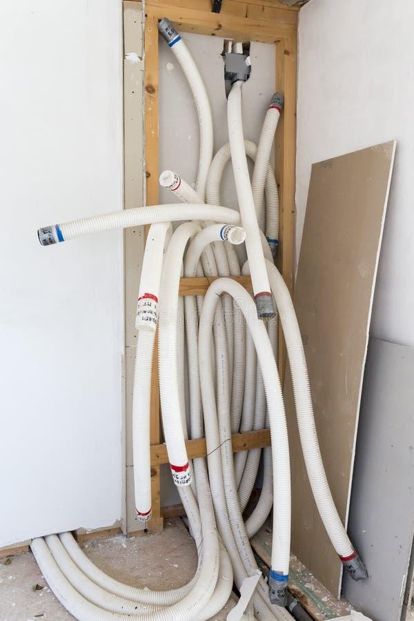 强制通风系统的管子 免版税库存图片