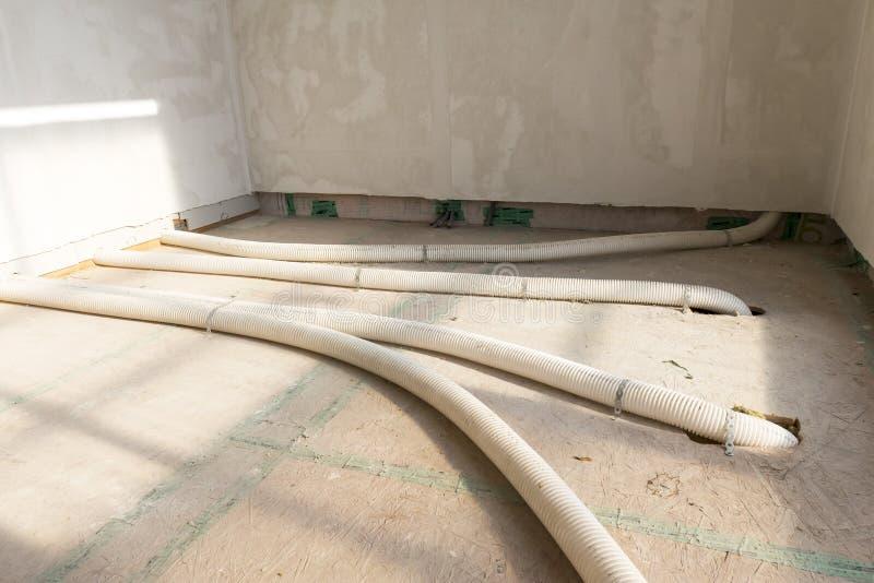 强制通风系统的管子 库存图片