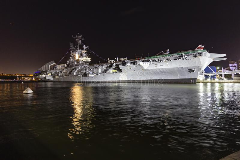 强悍的USS,海、空气&太空博物馆,纽约 库存照片