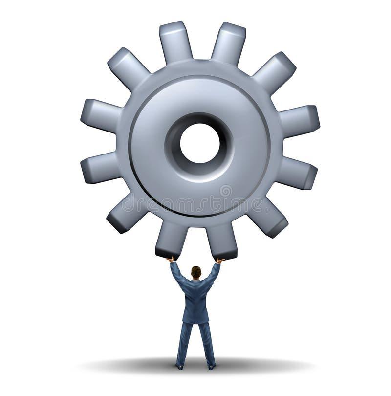 强有力的企业领导 库存例证