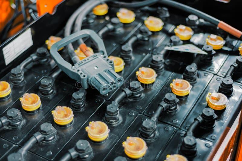 强有力的可再充电电池铲车 库存图片