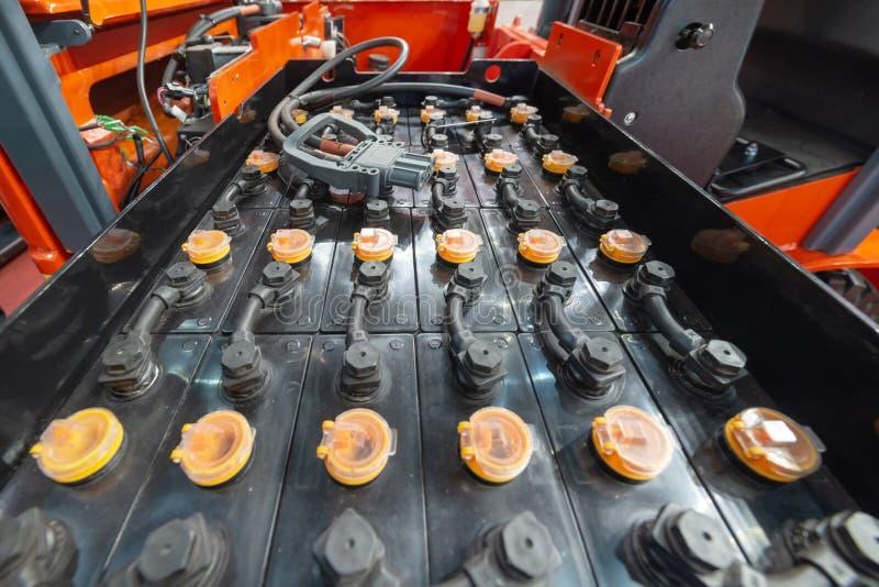 强有力的可再充电电池铲车 库存照片