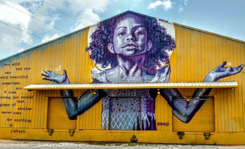 强有力的街道艺术新奥尔良,路易斯安那 免版税库存图片