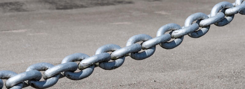 强有力的铁链子 库存图片